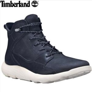 Timberland MEN'S FLYROAM LEATHER SNEAKER BOOTS DK NAVY ALL SIZES