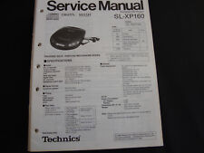 ORIGINALI service manual TECHNICS sl-xp160