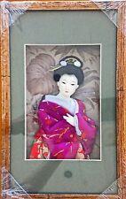 Japanese Geisha Picture Frame with Purple Kimono (REC11)