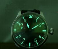 Green Luminous 38.9mm Watch Dial + Hands Fit ETA 6497 Seagull ST3600 Movement