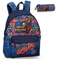 7fe3fb1e17 Delbag Ghetto Graffiti Backpack Travel Work School Bag Rucksack Boys Girls