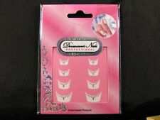 French Nail Tips Glitter Manicure Art Sticker Decals N-S-FNA09