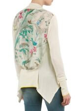 fbb827bd8 TED BAKER Parisian bird floral print waterfall drape cardigan sweater top 0  6