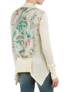 TED BAKER Parisian bird floral print waterfall drape cardigan sweater top 0 6