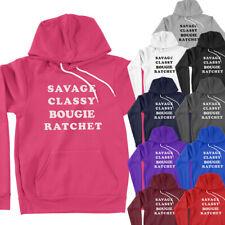 Savage Classy Bougie Ratchet Music TikTok Tik Tok Funny Quote Hoodie Sweatshirt