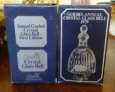 1978 & 1979 Collection of Two (2) Goebel Annual Crystal Bells w/ Original Boxes