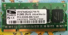 ProMOS 512MB PC2-5300S-555-12-A1 Laptop Memory