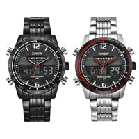 Fashion Men's Military Stainless Steel Analog Date Sport Quartz Wrist Watch