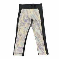 Under Armour Women's Medium 3/4 Leggings UA Heat Gear Compression Pants EUC