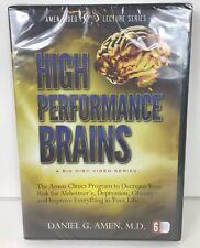 High Performance Brains 6 DVD Set by Daniel G. Amen, M.D. Brand NEW