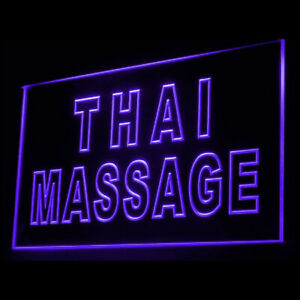 160062 Thai Massage Nerve Relax Relieve tension Display LED Light Neon Sign