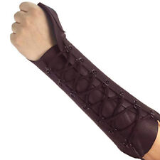 Traditional Archery Shooting Glove Arm Guard Cow Leather Hl#309 Brown.