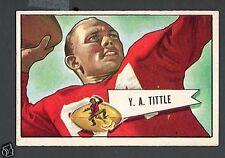 1952 Bowman Large Football Card #17 Y. A. Tittle-San Francisco 49ers