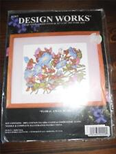 "DESIGN WORKS Counted Cross Stitch Kit - FLORAL ANGEL BEARS - 11"" x 14"""