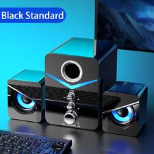 New listing 1set Computer Speakers System Stereo Bass Subwoofer Led For Laptop Desktop Tv Pc