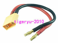 RC XT90 Male to 4mm Banana Connector Plug charger lead cable 12AWG 15CM Wire