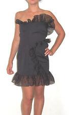 Italian Sexy Dress by Nadine Black Women Party Cocktail Club Slim Sz US 6 EU 40
