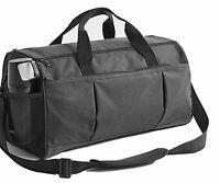 David Ann Sports Gym Bag W/Shoe Compartment. Travel Duffle Bag, Black. New