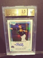 "2011 Bowman Chrome Trevor Story Refractor Auto #/500 BGS 9.5/10 ""True Gem Mint"""