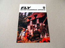 Postcard (BC60) - Fly British Caledonian  (cottage)
