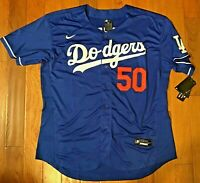 NEW! Los Angeles Dodgers #50 Mookie Betts Blue Jersey Mens 2XL 52