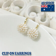18CT Gold Plated Clip On Earrings With Pearl