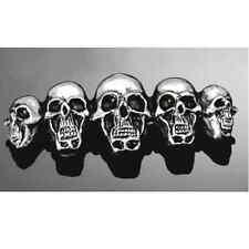 Emblème autocollant GF skull Tête de Mort family moto custom métal sticker trike
