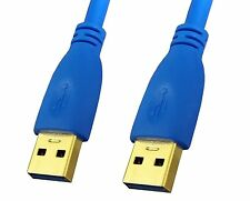 Premium Quality Gold Plated Blue 15ft 15feet USB 3.0 A Male to A Male Cable Cord