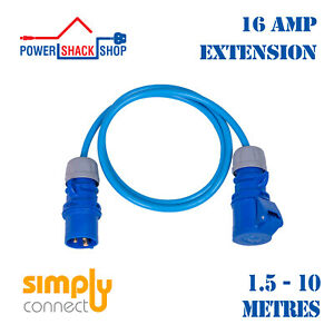 SC, EXTENSION LEAD, 16 Amp 2.5mm², Outdoor Cable, 1.5 -10 Metres