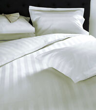 1000TC Egyptian Cotton WATERBED SHEET SET Extra Deep Pocket Wide White Stripe