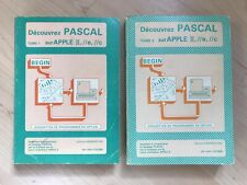 Lot 2 Livres Découvrez Pascal Tome 1 Et 2 Apple IIe IIc IIgs