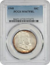 1948 50c PCGS MS67 FBL - Franklin Half Dollar - Only One Finer!