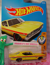 '69 CHEVELLE SS 396 #263✰yellow;red mc5✰MUSCLE MANIA✰2017 Hot Wheels case M