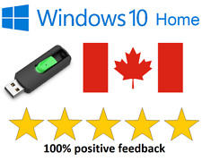 Windows 10 Home USB 32 & 64bit with activation key bootable, repair or install