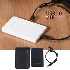 "USB 2.0 2.5"" Up To 2T Hard Drive DiskSATA HDD External Enclosure Case Cover Box"