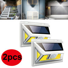 2Pcs 74 Cob Led Solar Light Motion Sensor Security Wall Outdoor Garden Lamp