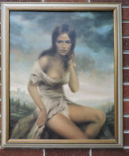 Vintage Mid-Century BROKEN SILENCE Partial Nude by VINCIATA Print Framed c1960s