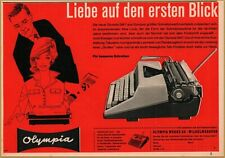 1961 Olympia Typewriter Sexy Secretary Boss Print Ad
