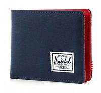 Herschel Roy Plus Coin RFID Wallet Geldbörse Navy / Red Blau Rot Neu