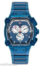 Aqua Master Men's Gold Rectangular Dial Stainless Steel Diamond Watch W143