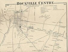 Rockville Centre Oceanside  NY 1873 Map with Homeowners and Businesses Shown