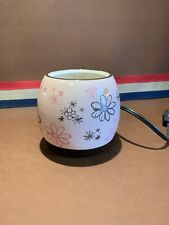Used scentsy warmer Pink Brown Floral Retired