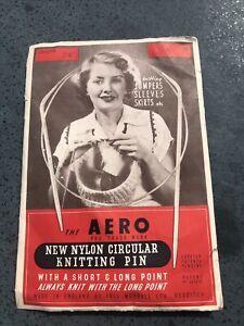 Vintage AERO Nylon Circular Knitting Pin In Original Packet