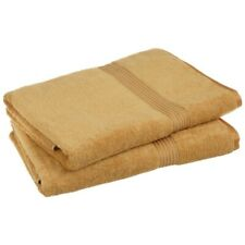 2-Piece Gold Superior 600 GSM Egyptian Cotton Bath Sheet Towel Set 1-Ply