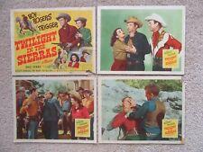 TWILIGHT IN THE SIERRAS ORIGINAL 1950 SET OF 4LC's 11X14 ROY ROGERS GOOD-EX