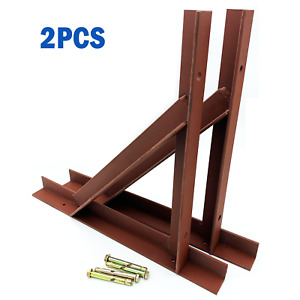 Pair of Heavy Duty Steel Chimney Support Gallow Brackets 50x45x5mm Angle Fixing
