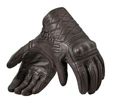 GUANTI GLOVE REV'IT MONSTER 2 MARRONE PELLE BROWN RACER TOURING PROTEZIONI TG L