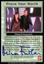 Babylon 5 Ccg Mira Furlan Premier Edition Prove Your Worth Autographed