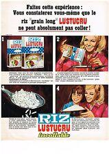 PUBLICITE ADVERSTISING  1968  LUSTUCRU    riz