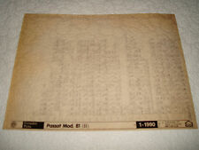 VOLKSWAGEN PASSAT MODEL 81 (B) PARTS MICROFICHE FULL SET OF 1 JANUARY 1990
